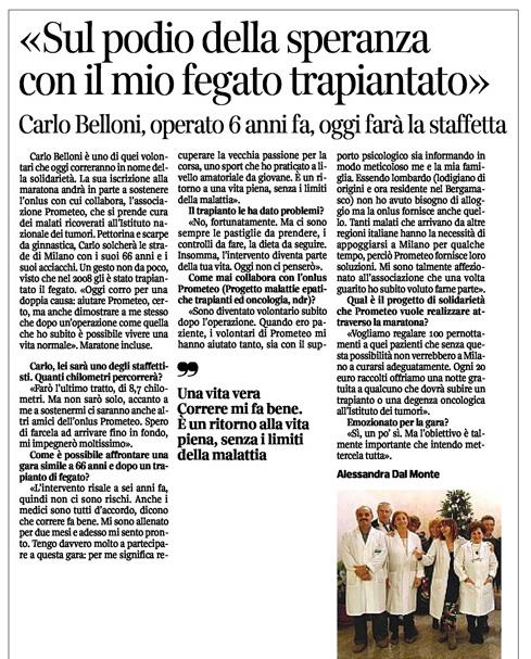 Carlo Belloni: Sul podio della speranza con il mio fegato trapiantato 2