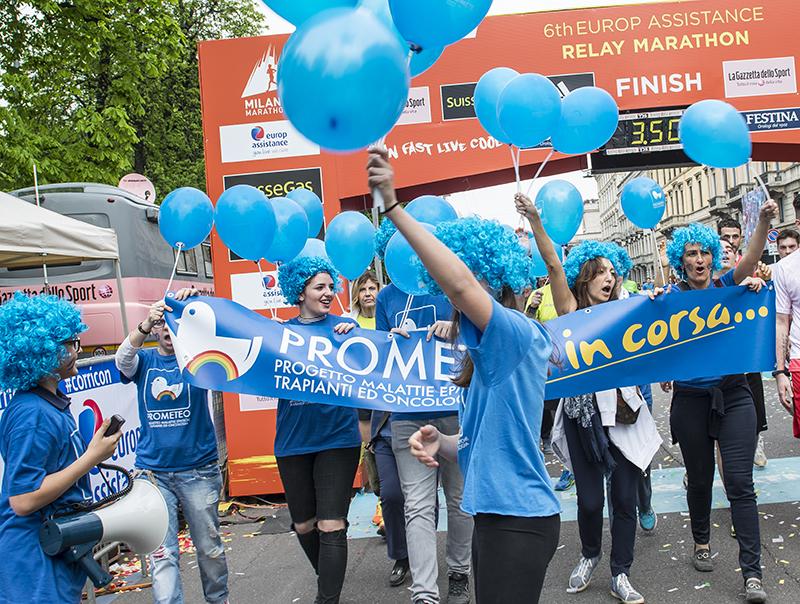 Milano Marathon 2016 - il traguardo di PROMETEO