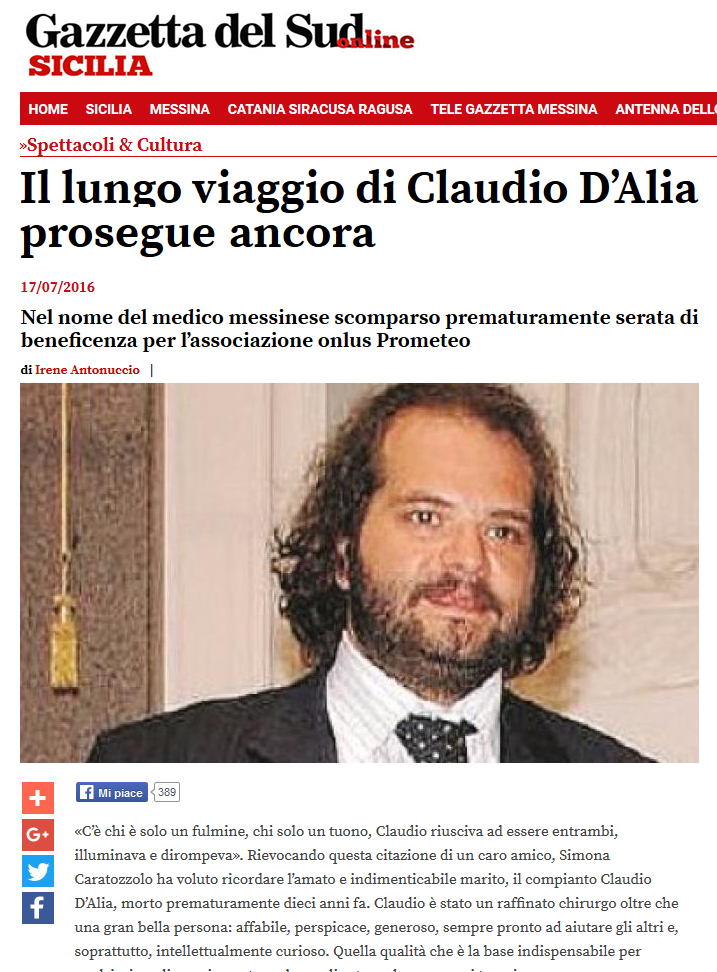 Il lungo viaggio di Claudio D'Alia prosegue ancora 1
