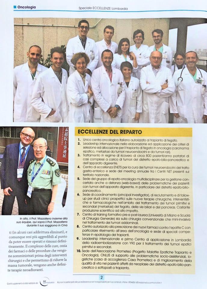 Sanità & Benessere de Il Corriere della Sera: intervista al prof. Mazzaferro 2