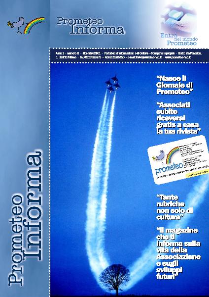 PROMETEOInforma N.00 - Dicembre 2001