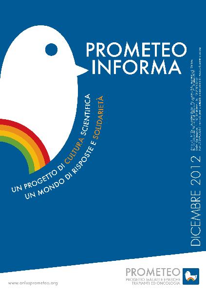 PROMETEOInforma N.22 - Dicembre 2012