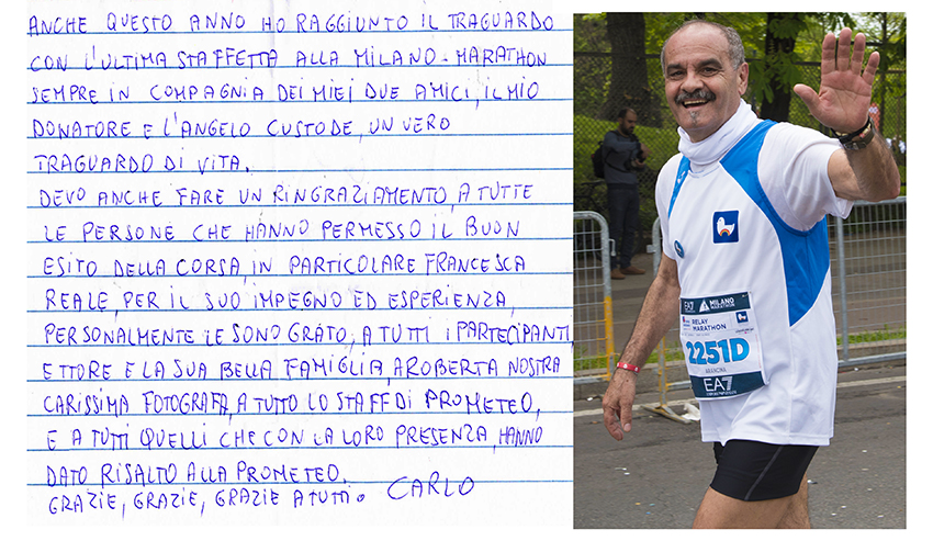 Carlo Belloni Milano Marathon 2017
