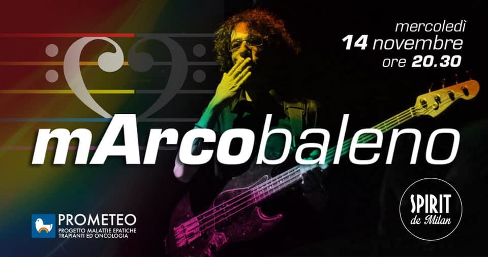 mArcobaleno, concerto per Marco Mangelli - 14 novembre, Milano, a favore di PROMETEO