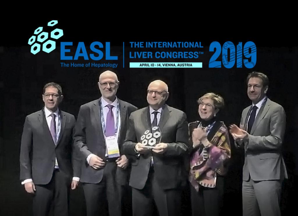 12 aprile 2019: Vincenzo Mazzaferro riceve a Vienna il prestigioso EASL Recognition Award