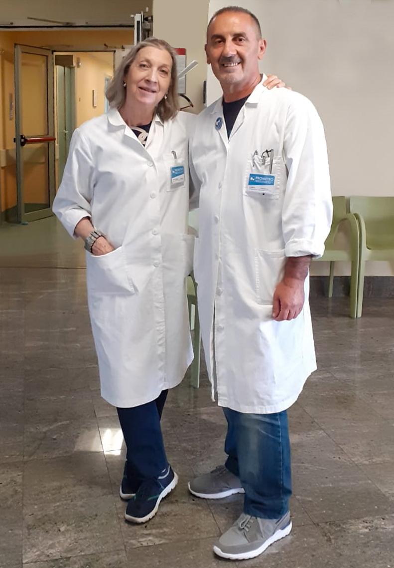 volontari PROMETEO Enrica e Andrea-