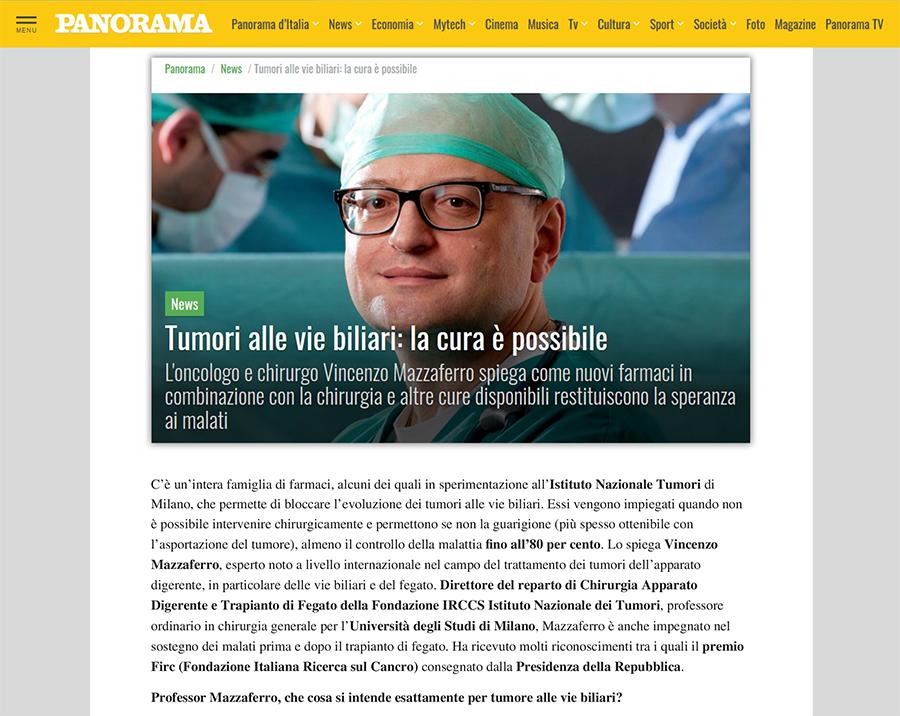 Tumori alle vie biliari: la cura è possibile - Panorama intervista il Prof. Mazzaferro