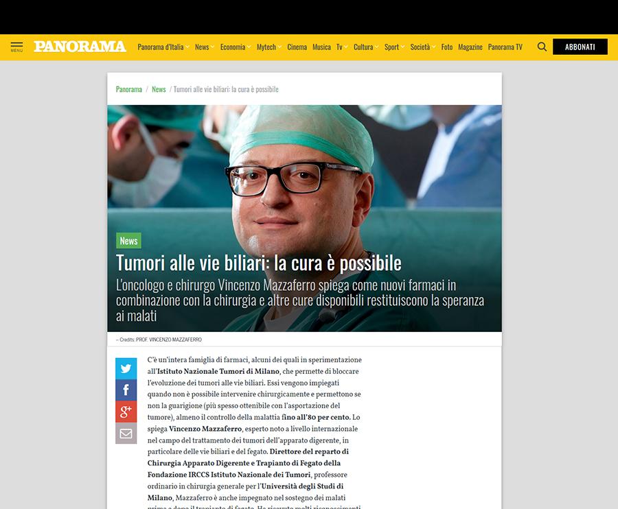Tumori alle vie biliari: la cura è possibile - Panorama intervista il Prof. Mazzaferro 1