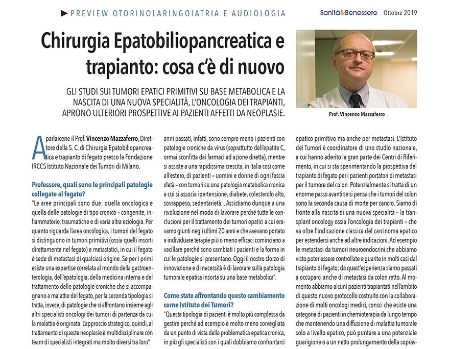 Chirurgia Epatobiliopancreatica e trapianto: cosa c'è di nuovo - Intervista a Vincenzo Mazzaferro 1