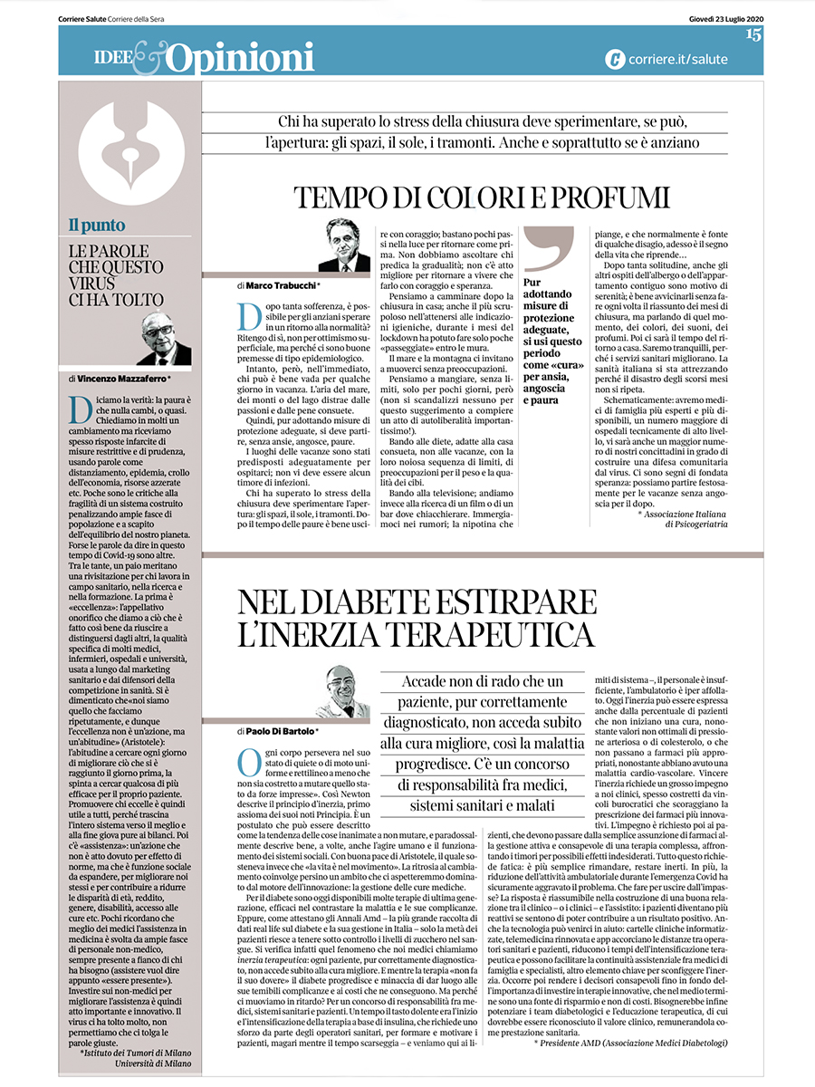 Le parole che questo virus ci ha tolto - di Vincenzo Mazzaferro, su Corriere Salute